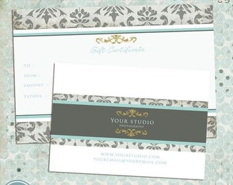 ON SALE Photography Gift Certificate Template - INSTANT Download