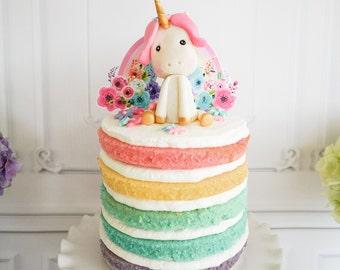Unicorn Rainbow Cake Topper - Rainbow Cake Topper - Rainbow Cake Topper - Instant Download