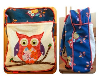 Backpack sewing PDF pattern, sewing pattern, backpack pattern for boys, backpack pattern for girls, easy sewing pattern, schoolbag pattern