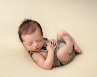 Newborn Photography Fabric Backdrop -  Thick Harmony Knit Backdrop - Shortbread - Newborn Backdrop Posing Fabric