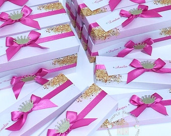 Unicorn Rainbow Scroll Invitation Boxes (Set of 10) | Decorative Scroll Boxes | Decorated Scroll Invite Box