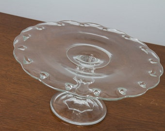 Indiana Glass Tear Drop Cake Stand Clear
