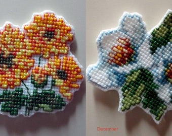 Cross Stitch Charts for Monthly Flowers #6