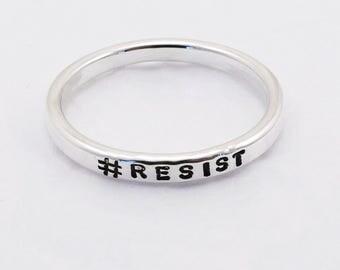 Sterling Silver Ring 2.4 mm Wide, #RESIST
