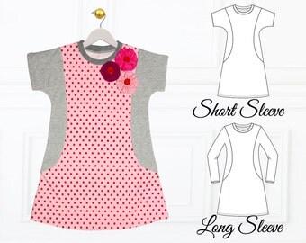 Girls Dress Pattern, Tunic Pattern pdf, Tween Dress Pattern, Teenage Dress Pattern, Girls Sewing Pattern PDF,  AMY TWEEN
