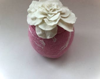 Felted  Bowl  Rose.Vessel. felted.  Box .Wet-felted.Felted Flowers.Basket.Wet Felted Rose.