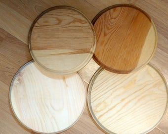 Four Quality Natural Wood Plaques for Craft Projects