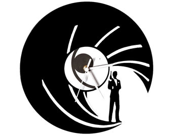 Vinyl clock james bond