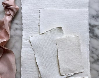 PRE ORDER | Handmade paper, Cotton rag Paper, Deckle Edge Paper, Deckled Edge Paper, Deckle Edge, Calligraphy Paper, Handmade Invitations