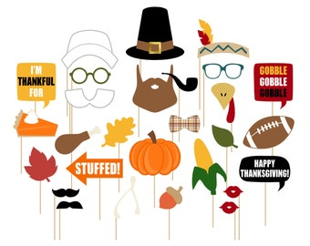 Printable Thanksgiving Photo Booth Props . Thanksgiving Photo Booth Props . Thanksgiving . Happy Thanksgiving . Instant Download