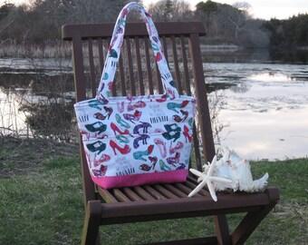 Shoe Crazy Fabric Handbag
