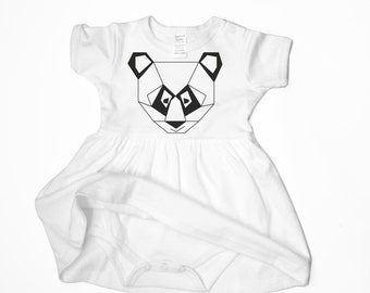 Baby girl dress, newborn dress, babygrow with skirt, cotton infant clothes, baby girl gift, niece present