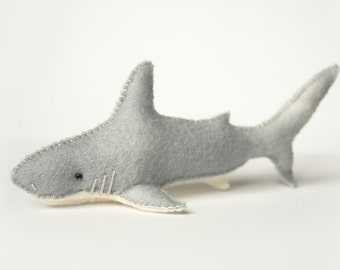 Felt Shark Sewing Pattern - Marine Life Pattern - PDF