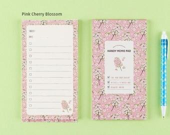Handy Memo Pad-Pink Cherry Blossom