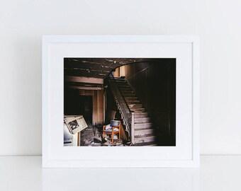 School Entrance - Urban Exploration - Fine Art Photography Print