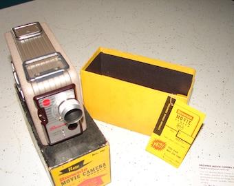 Vintage Brownie Movie Camera 8mm Kodak High Speed Camera 1950s Original Box