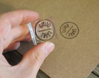 Custom Rubber Stamp (.75 inches wide)