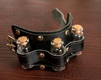 Bracelet with vials