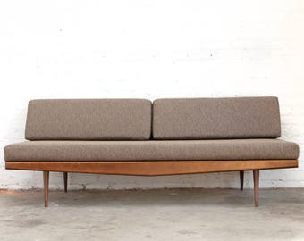 Mid Century Sofa Day Bed Wood Frame