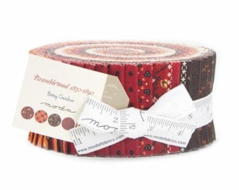 Bramble wood  1870-1890 Jelly Roll by Betty Crutchian for Moda
