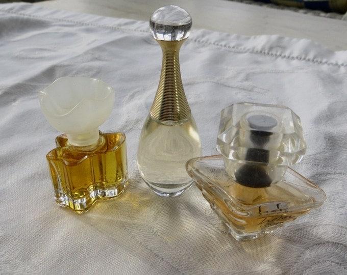 Vintage Perfume Lot, Mini Perfumes, J'Adore, Tresor, Oscar de La Renta, Paris Perfume Lot of Three