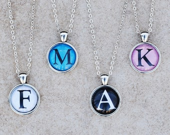 LETTER NECKLACE, Initial Alphabet Pendant Necklace Jewelry Gift for Boy, Girl, Women, Men