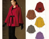 A Contemporary Cape / Poncho with Collar and Closure Variations Pattern for Women: Uncut - Sizes XS-XL (6-8 to 22-24) ~ New Look 6007