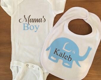 Personalize Baby Onesie & Bib Set