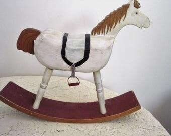 handgemachte vintage holz schaukelpferd spielzeug pferd, Schlafzimmer