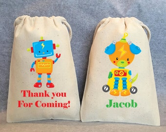 "15- Robot Party, Robot Birthday, Robot party supplies, Robot Birthday party, Robot party favors, Robot party favor bags. 4""x6"""