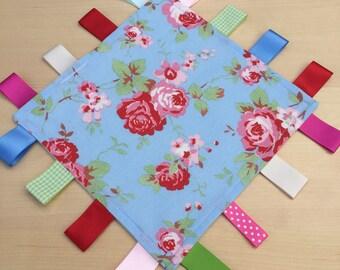 Taggy Blanket / Comforter - Cath Kidston Rosali Blue Fabric