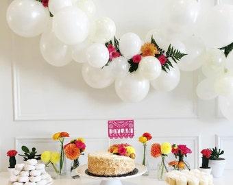 Balloon Garland Kit - Snow White - White Party Balloons - White Balloon Garland - White Party Decorations