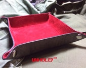 Leather Valet Trey Your Choice Lining and Color