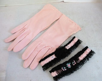 Vintage Ladies Gloves and Garters