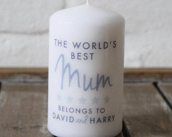 Mum Candle for Mother's Day