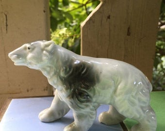 30% Off Porcelain Polar Bear, Figurine, Made in Japan, Realistic, Diaorama, Christmas Decor, Still Life, Photo Prop, Collection Gift