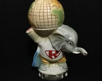 "Vintage 1980 Jim B. Beam Elephant Decanter ""Regan"" President Year   (LDT6)"