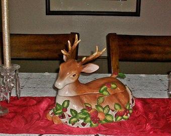 Noritake Royal Hunt Lidded Tureen With Matching Ladle ~ Deer