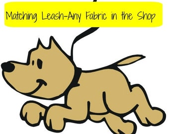 One Side Fabric Dog Leash-Match your fabric