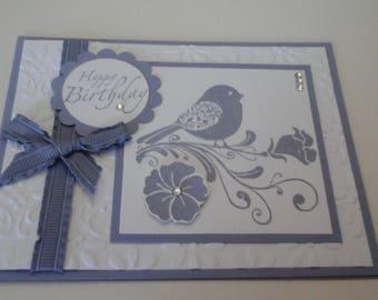 Wisteria Wonder Bird Birthday card
