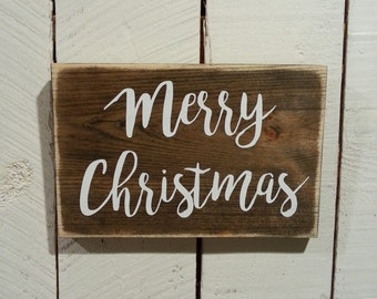 Rustic Decor - Rustic Christmas Wooden Sign - Merry Christmas Sign - Farmhouse Decor - Farmhouse Christmas Sign - Holiday Sign