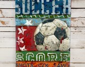 Soccer Art - Line Up Collection - Sports Wall Art Decor