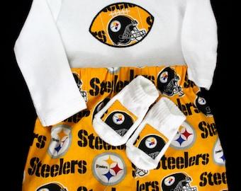 Pittsburg Steelers 3pc Boys Bodysuit set