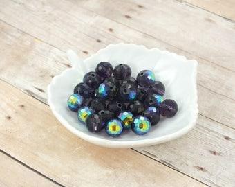 Metallic Mystic Purple Round Beads