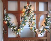 Green and Gold Fabric Christmas Garland Christmas Decoration Party