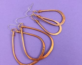 hammered copper hoop