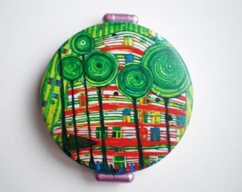 Pocket mirror - Hand mirror - Woman accessories - Gift for her