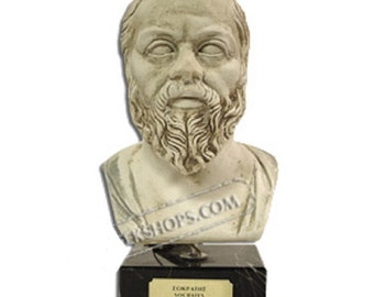 """Socrates Bust 8"""" (20 cm) Ivory Color"""