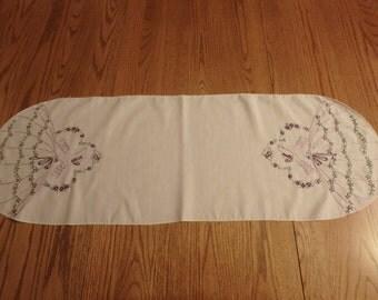 Purple southern Lady dresser scarf