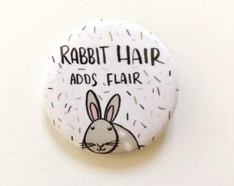 Rabbit Pin, Rabbit, Bunny, Rabbit Gift, Rabbit Button Pin, Rabbit Button Pin, Button Badge, Bunny Pin